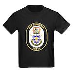 USS Comstock LSD 45 US Navy Ship Kids Dark T-Shirt