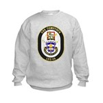 USS Comstock LSD 45 US Navy Ship Kids Sweatshirt