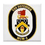 USS Defender MCM 2 US Navy Ship Tile Coaster