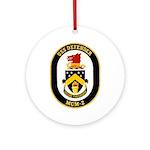 USS Defender MCM 2 US Navy Ship Ornament (Round)