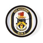 USS Defender MCM 2 US Navy Ship Wall Clock
