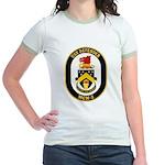 USS Defender MCM 2 US Navy Ship Jr. Ringer T-Shirt