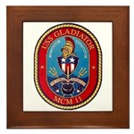 USS Gladiator MCM 11 US Navy Ship Framed Tile