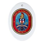 USS Gladiator MCM 11 US Navy Ship Oval Ornament
