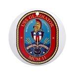 USS Gladiator MCM 11 US Navy Ship Ornament (Round)