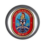 USS Gladiator MCM 11 US Navy Ship Wall Clock