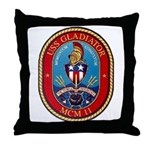 USS Gladiator MCM 11 US Navy Ship Throw Pillow