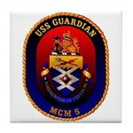 USS Guardian MCM 5 US Navy Ship Tile Coaster