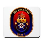USS Guardian MCM 5 US Navy Ship Mousepad