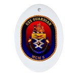 USS Guardian MCM 5 US Navy Ship Oval Ornament