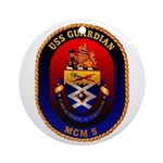 USS Guardian MCM 5 US Navy Ship Ornament (Round)