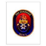 USS Guardian MCM 5 US Navy Ship Small Poster