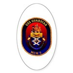 USS Guardian MCM 5 US Navy Ship Oval Sticker