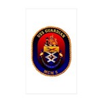 USS Guardian MCM 5 US Navy Ship Rectangle Sticker