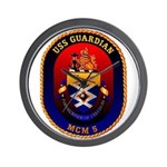 USS Guardian MCM 5 US Navy Ship Wall Clock
