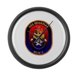 USS Guardian MCM 5 US Navy Ship Large Wall Clock