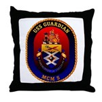 USS Guardian MCM 5 US Navy Ship Throw Pillow