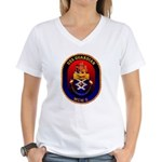 USS Guardian MCM 5 US Navy Ship Women's V-Neck T-S