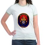 USS Guardian MCM 5 US Navy Ship Jr. Ringer T-Shirt