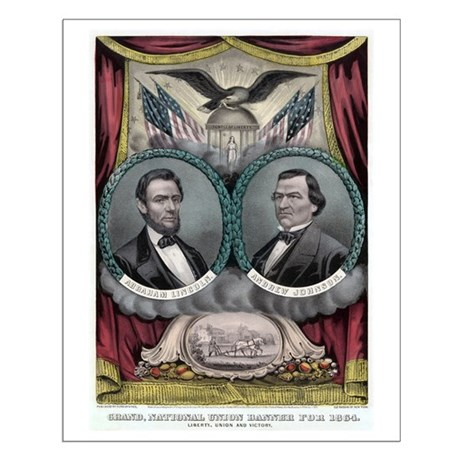 Abraham Lincoln 1864 Campaign Poster #1 Small Post