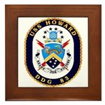 USS Howard DDG 83 US Navy Ship Framed Tile