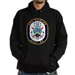 USS Howard DDG 83 US Navy Ship Hoodie (dark)