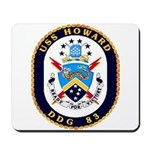 USS Howard DDG 83 US Navy Ship Mousepad