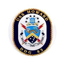 "USS Howard DDG 83 US Navy Ship 3.5"" Button (100 pa"