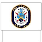 USS Howard DDG 83 US Navy Ship Yard Sign