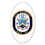 USS Howard DDG 83 US Navy Ship Sticker (Oval 10 pk