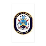 USS Howard DDG 83 US Navy Ship Rectangle Sticker