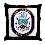 USS Howard DDG 83 US Navy Ship Throw Pillow