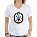 USS Howard DDG 83 US Navy Ship Women's V-Neck T-Sh