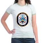 USS Howard DDG 83 US Navy Ship Jr. Ringer T-Shirt