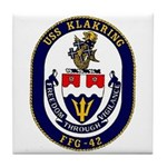 USS Klakring FFG 42 US Navy Ship Tile Coaster