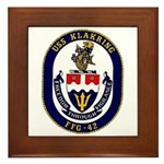 USS Klakring FFG 42 US Navy Ship Framed Tile