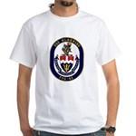 USS Klakring FFG 42 US Navy Ship White T-Shirt