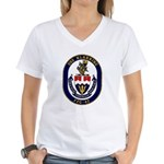 USS Klakring FFG 42 US Navy Ship Women's V-Neck T-