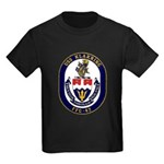 USS Klakring FFG 42 US Navy Ship Kids Dark T-Shirt