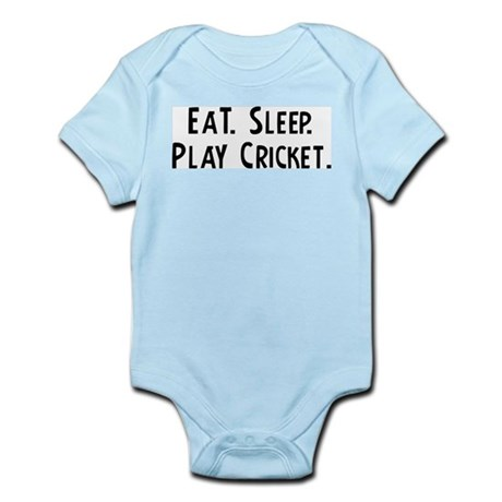 Eat, Sleep, Play Cricket Infant Creeper