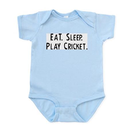 Eat, Sleep, Play Cricket Infant Creeper