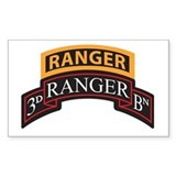 3D Ranger BN Scroll with Rang Rectangle  Aufkleber
