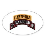 2D Ranger BN Scroll with Rang Oval  Aufkleber