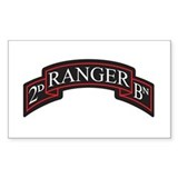 2D Ranger BN Scroll Rectangle  Aufkleber