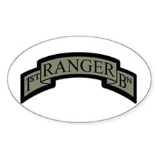 1st Ranger BN Scroll ACU Oval Decal