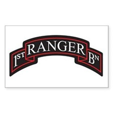 1st Ranger BN Scroll Rectangle Decal