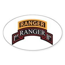 1st Ranger BN Scroll with Ran Oval Decal