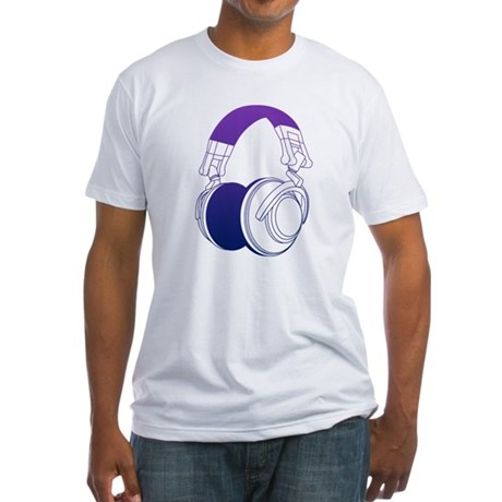 DJ Headphones 2 Fitted T-Shirt