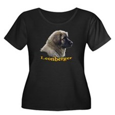 Leonberger Plus Size Scoop Neck Dark T-Shirt