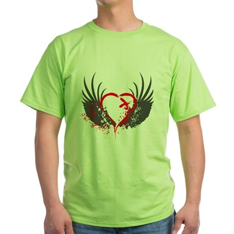 Blood Wings Green T-Shirt